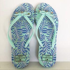 Kate Spade Nova Sea Fern Sandals Thong Flip Flops